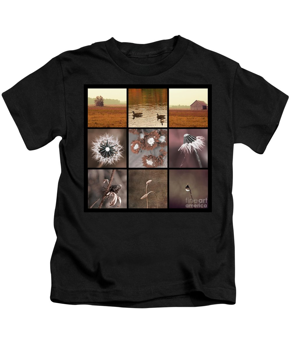 Brown Kids T-Shirt featuring the photograph 3x3 Brown by Aimelle
