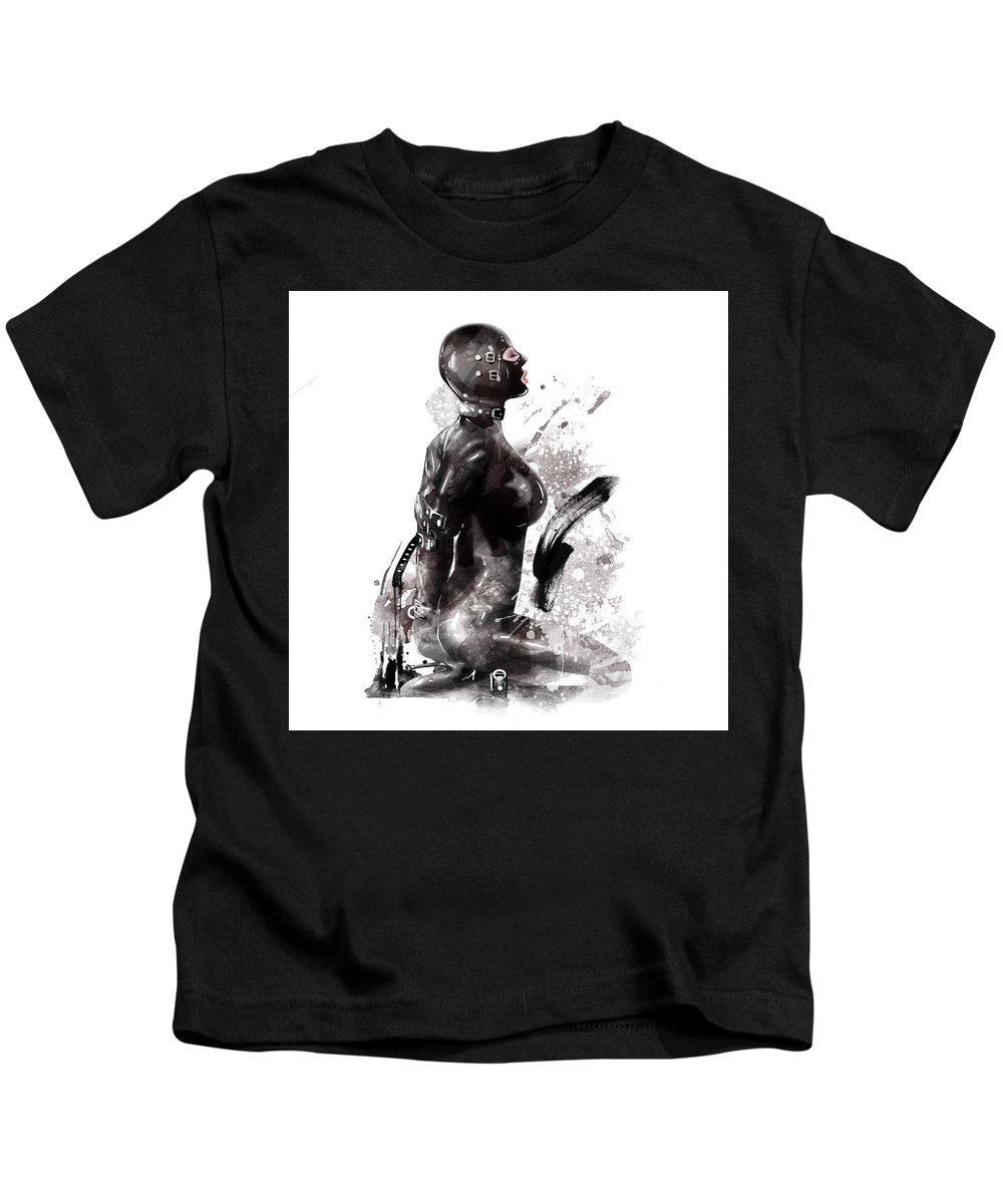Fetish Kids T-Shirt featuring the painting Fetish Art by Unique Drawing