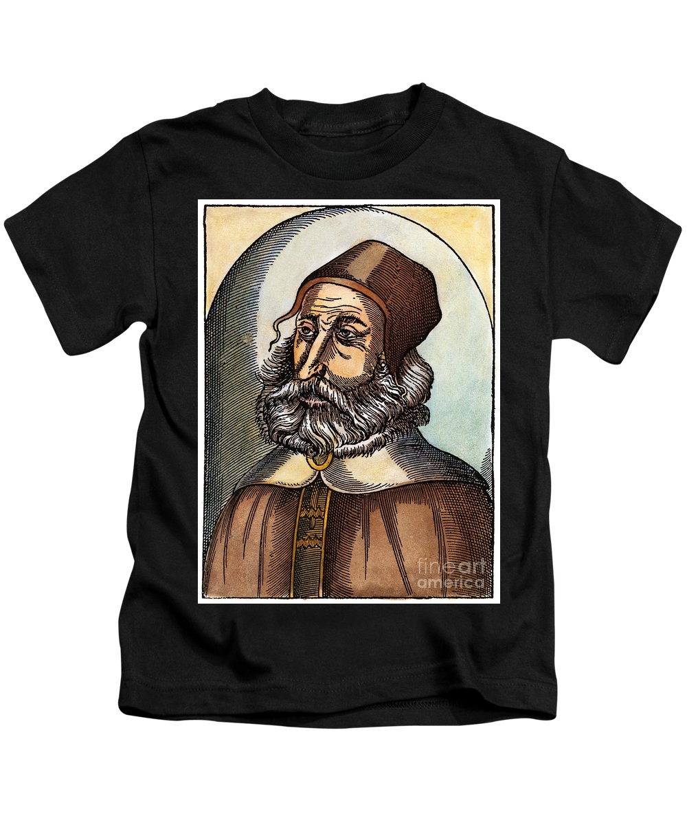 2nd Century Kids T-Shirt featuring the drawing Galen, 129-c200 A.d. by Granger