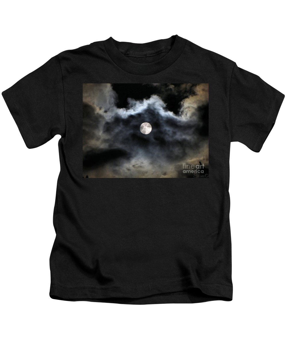 Lunar Kids T-Shirt featuring the photograph Lisas Wildlife Moons 2 by September Stone