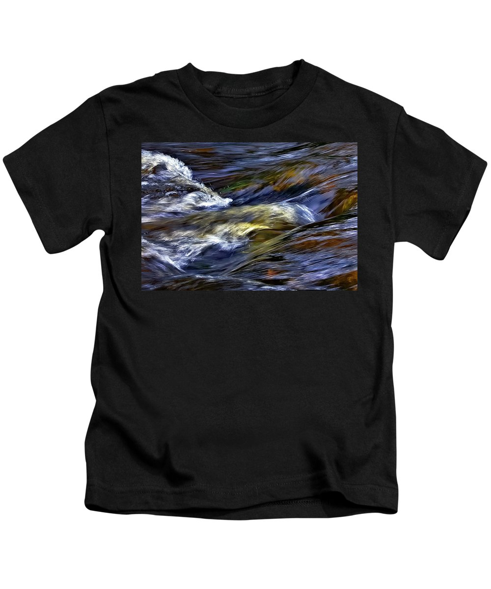 Water Kids T-Shirt featuring the photograph The Flow by Steve Harrington
