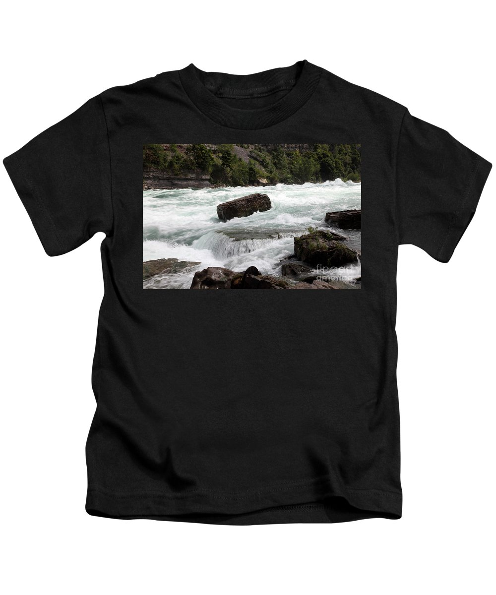 American Kids T-Shirt featuring the photograph The Niagara River by Ted Kinsman