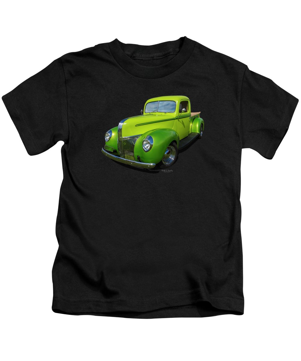 Pickup Kids T-Shirt featuring the photograph 40s Ford Pickup by Keith Hawley