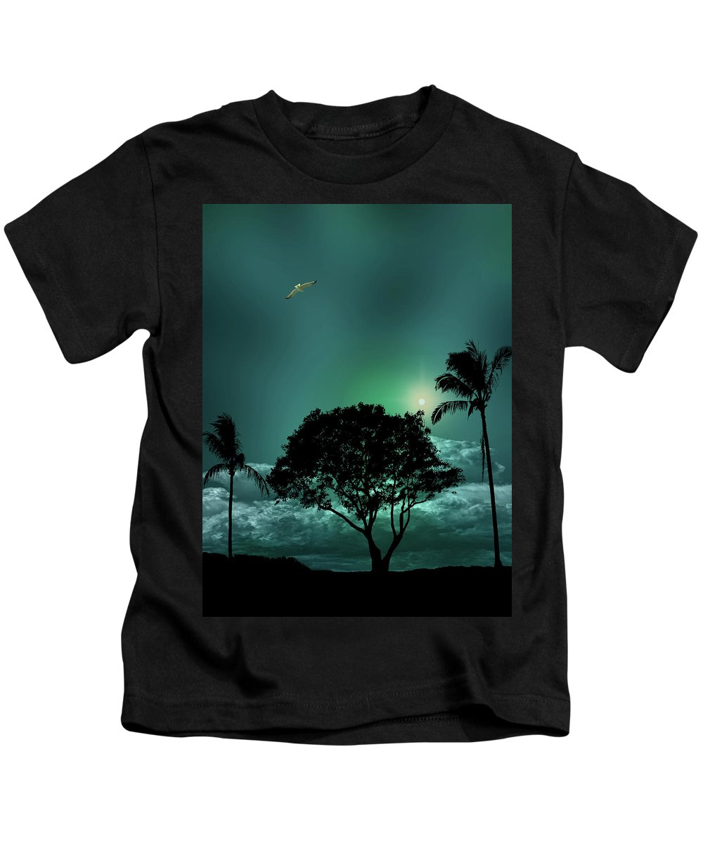 Trees Kids T-Shirt featuring the photograph 4420 by Peter Holme III