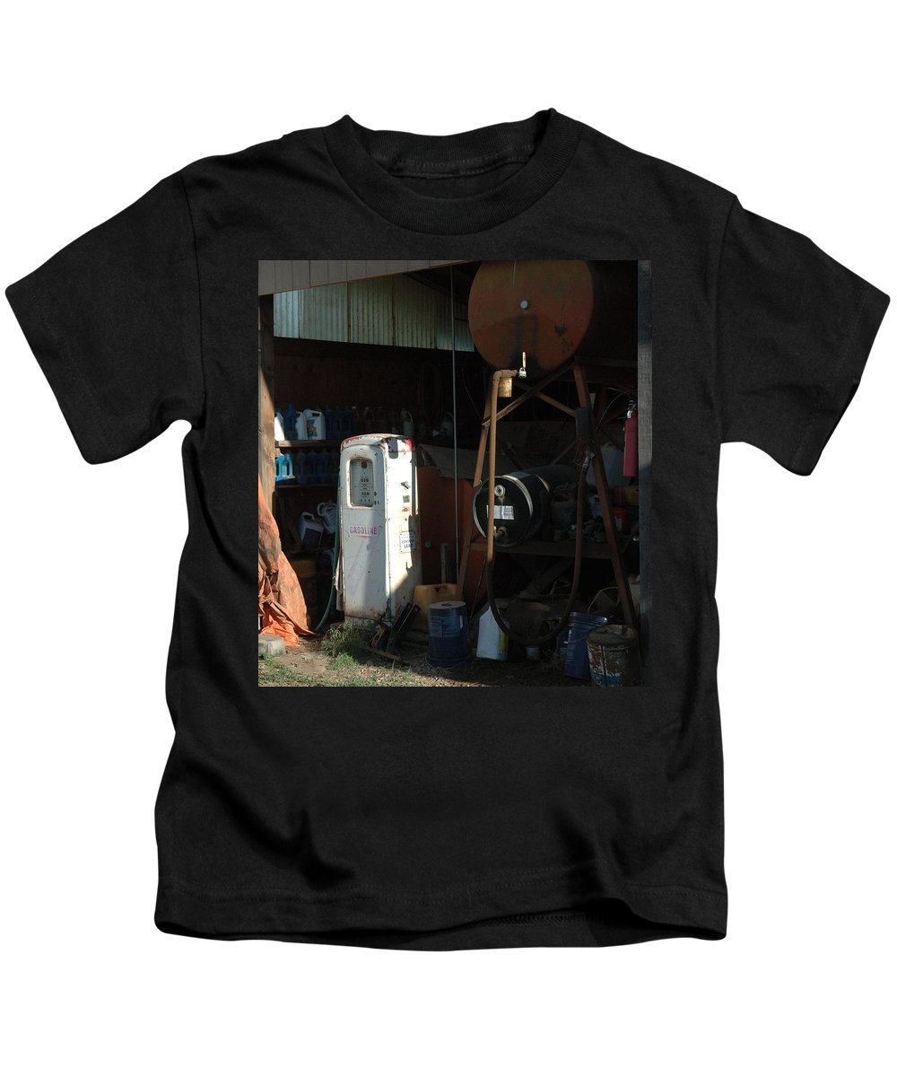Gas Kids T-Shirt featuring the photograph 48 Cents Per Gallon by Jerry McElroy