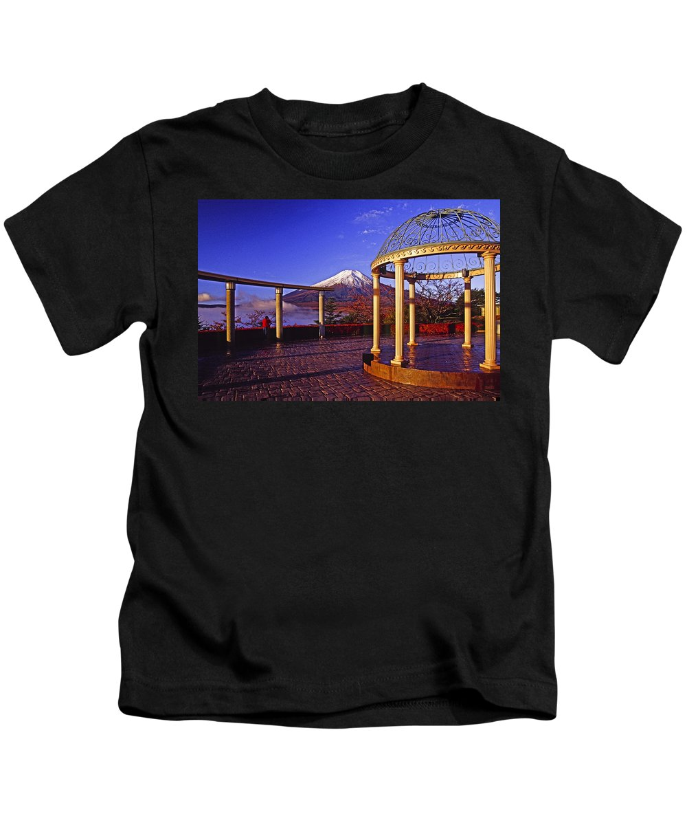Japan Kids T-Shirt featuring the photograph Mount Fuji In Autumn by Michele Burgess