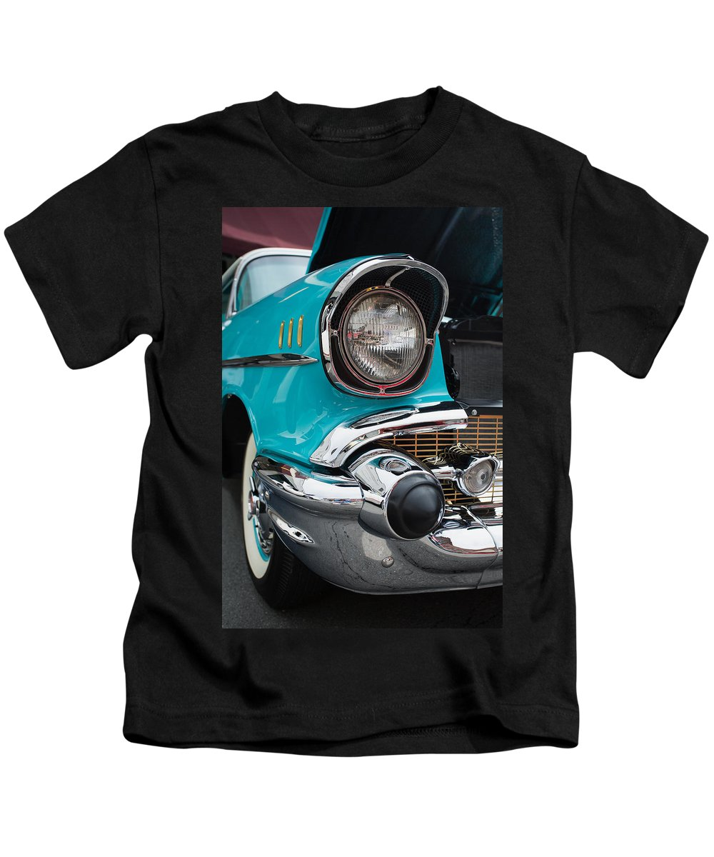 Cindy Archbell Kids T-Shirt featuring the photograph 57 Chevy by Cindy Archbell