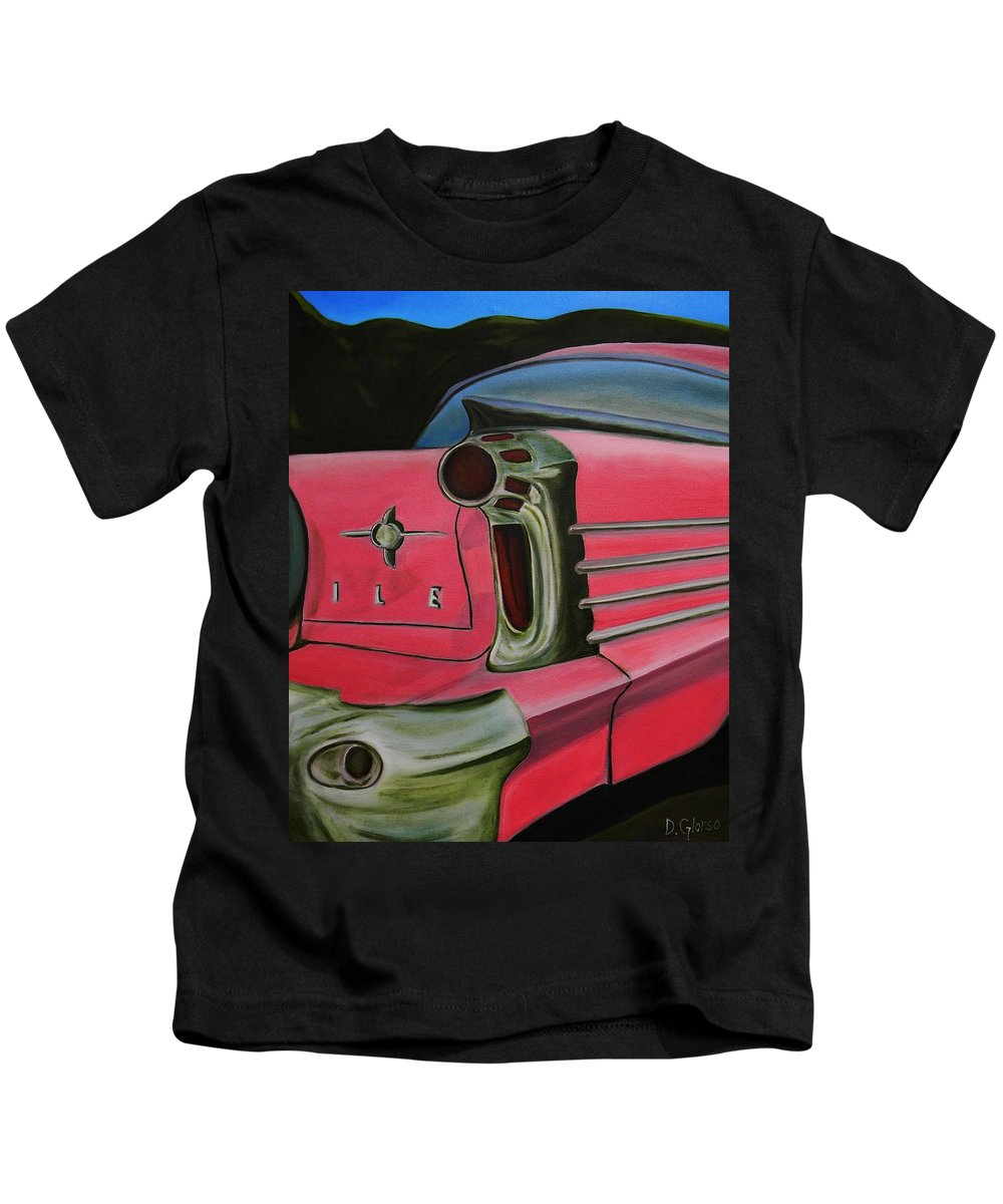Glorso Art Kids T-Shirt featuring the painting 59 Olds by Dean Glorso
