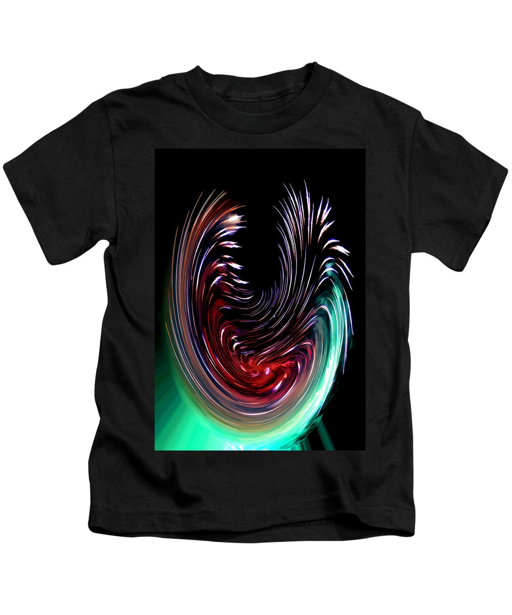 Abstract Black Red Green Blue Abstract Black Red Green Blue Framed Prints Kids T-Shirt featuring the digital art Abstract by Galeria Trompiz