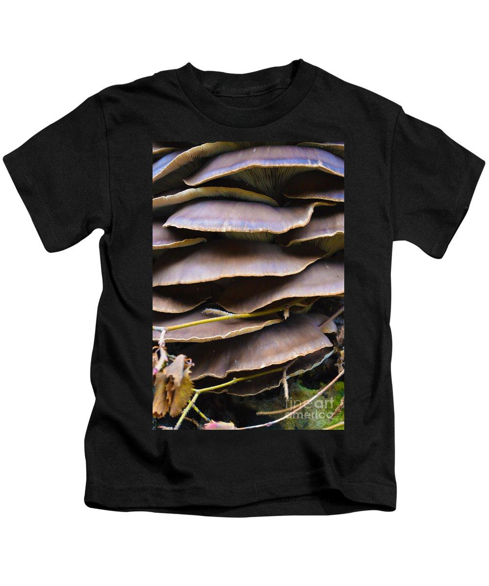 Mushroom Kids T-Shirt featuring the photograph Mushroom Art by Photos By Zulma