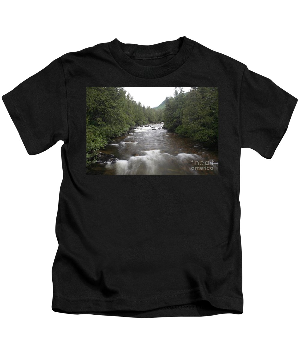 River Kids T-Shirt featuring the photograph Sainte-anne River, Quebec by Ted Kinsman