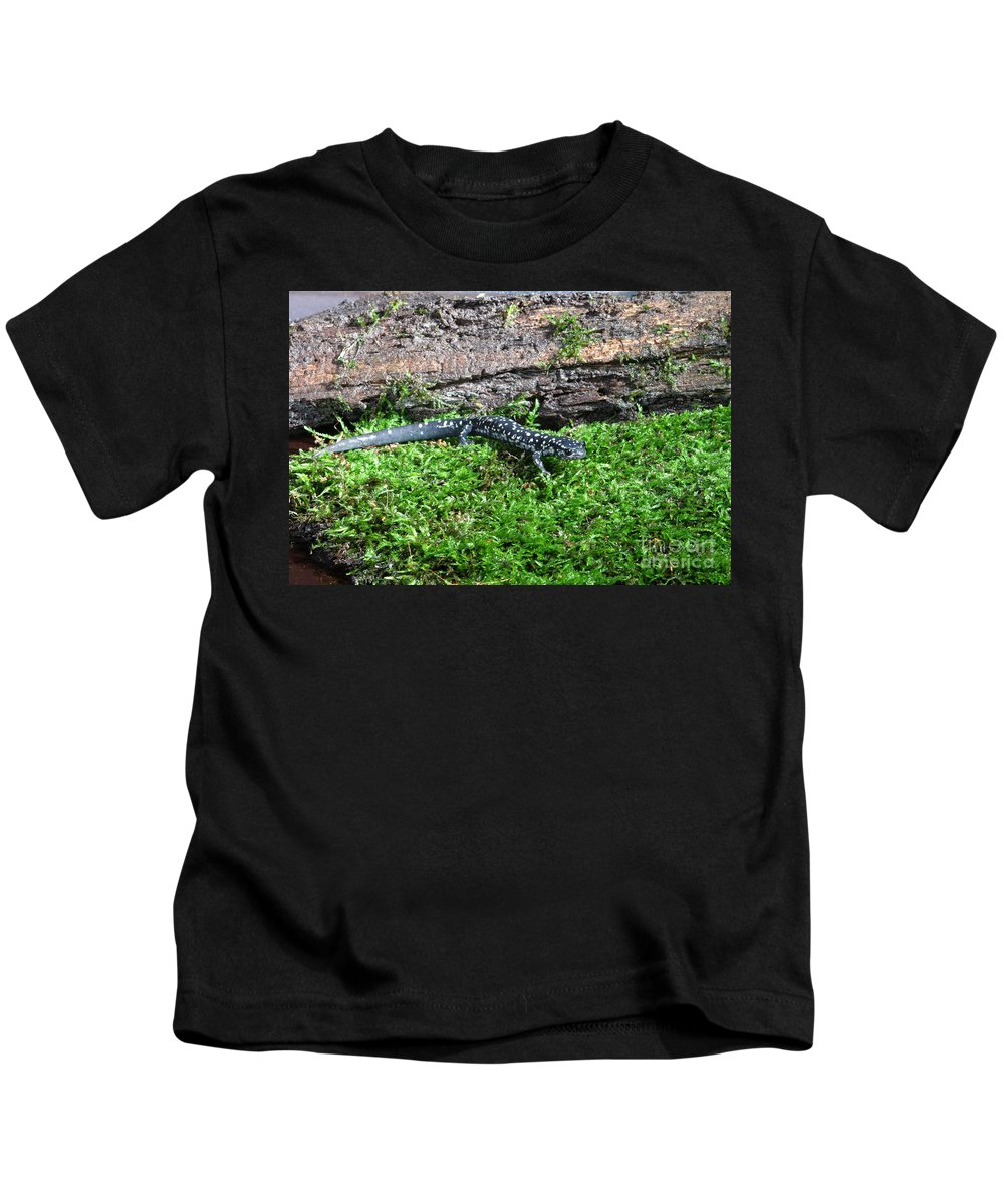 Animal Kids T-Shirt featuring the photograph Slimy Salamander by Ted Kinsman