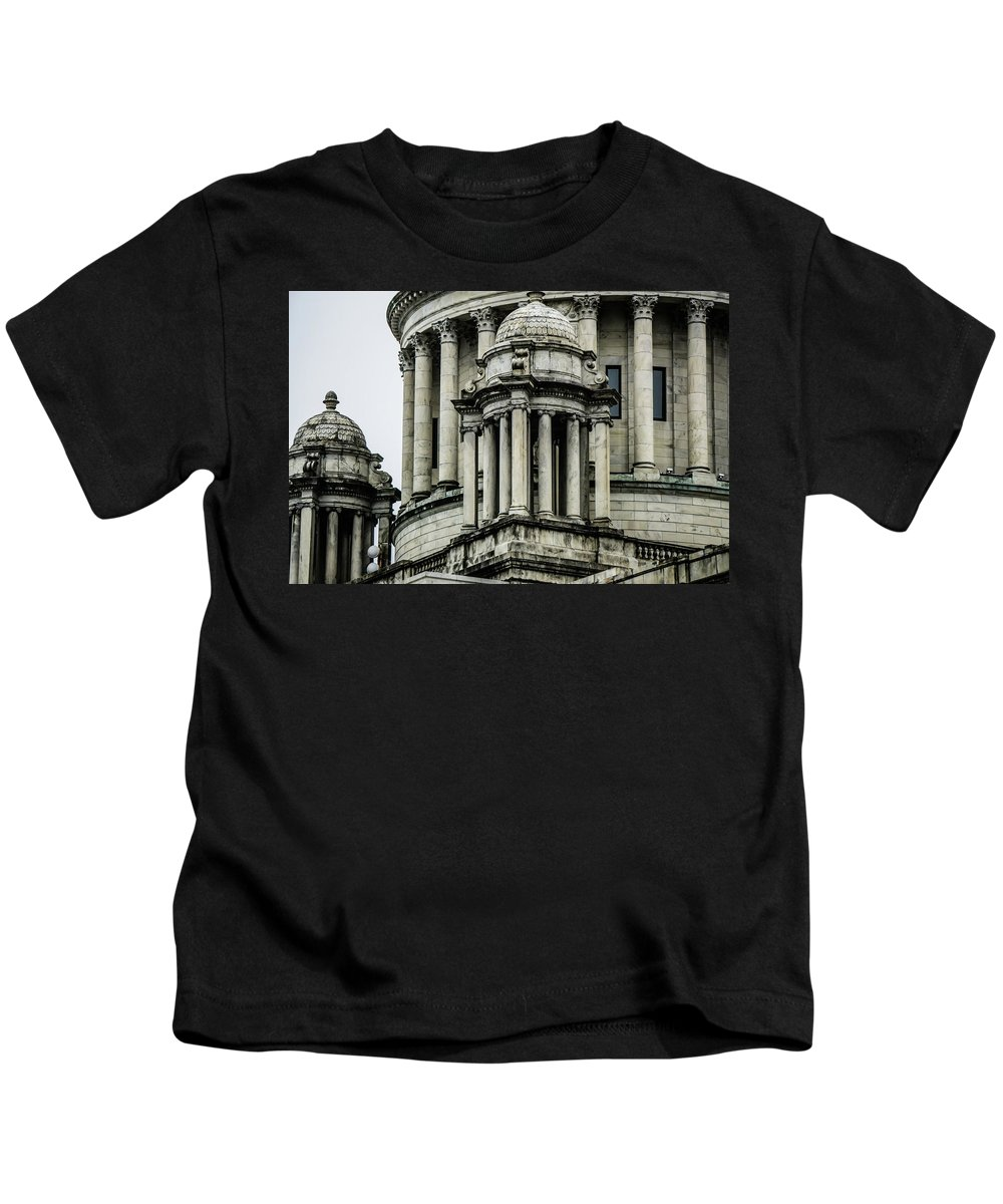 House Kids T-Shirt featuring the photograph The Rhode Island State House On Capitol Hill In Providence by Alex Grichenko