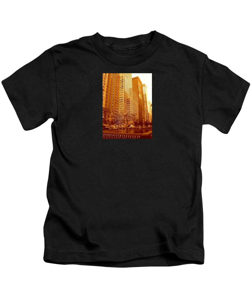 Manhattan Kids T-Shirt featuring the photograph 6th Avenue In Mahattan by Monique's Fine Art