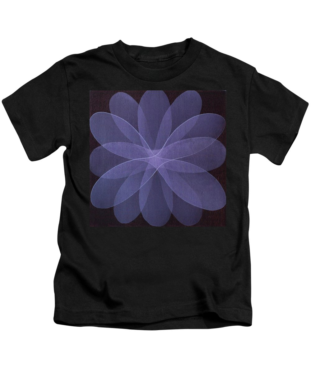 Abstract Kids T-Shirt featuring the painting Abstract Flower by Jitka Anlaufova