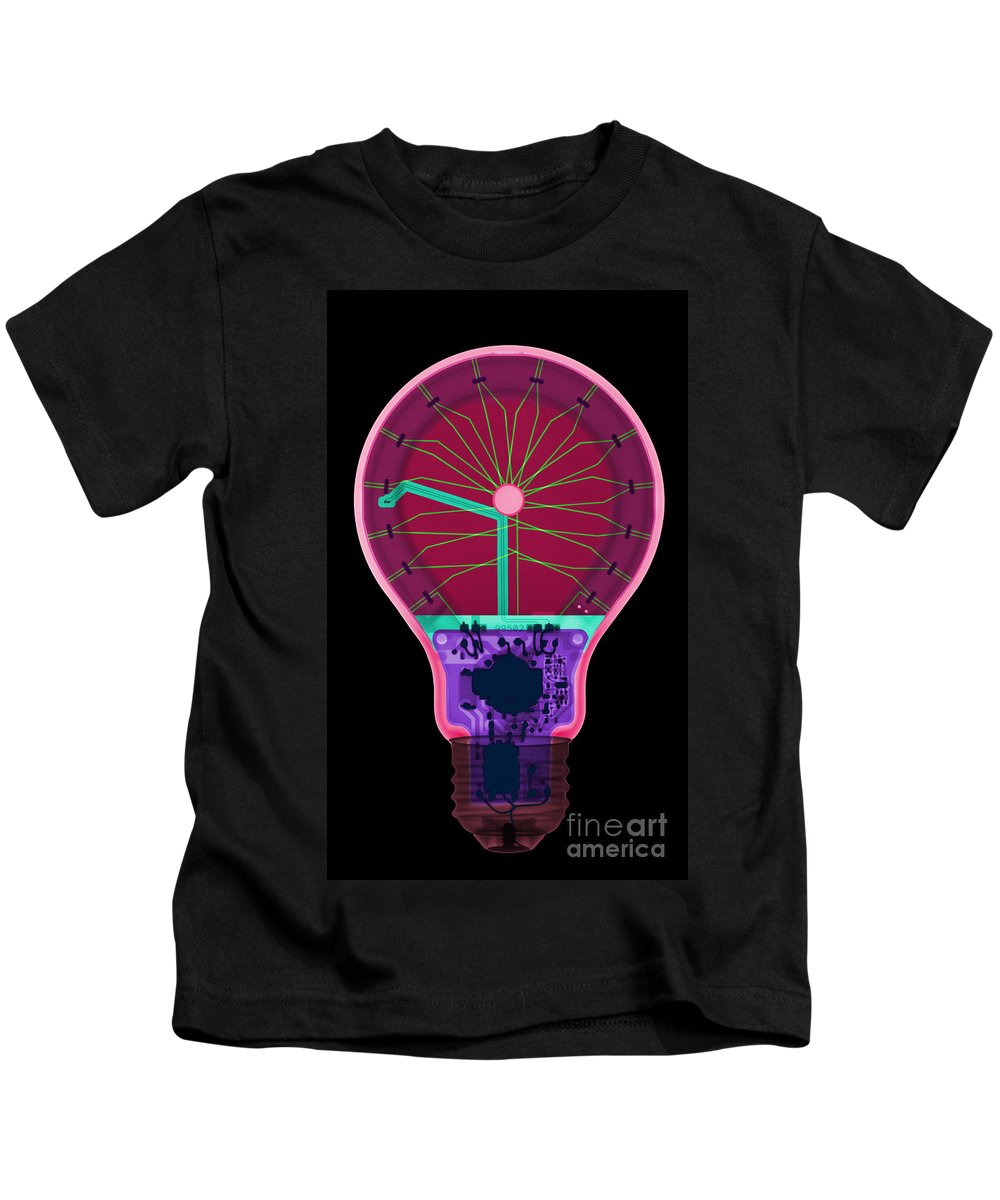 Xray Kids T-Shirt featuring the photograph Energy Efficient Led Light, X-ray by Ted Kinsman