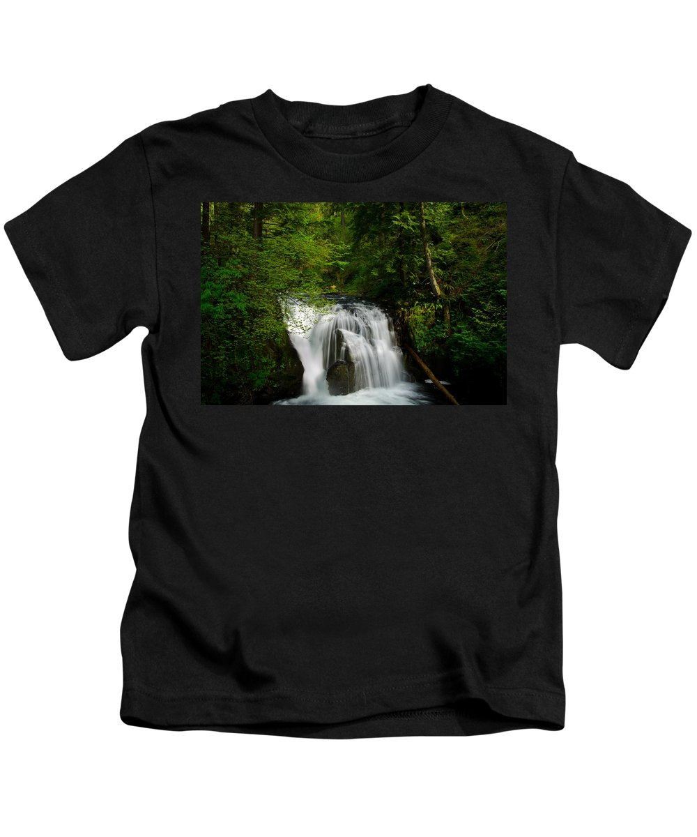 Water Kids T-Shirt featuring the photograph Waterfall by FL collection