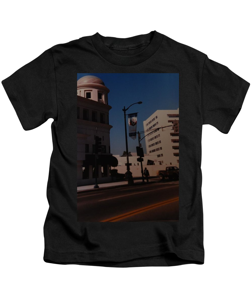 Hollywood California Kids T-Shirt featuring the photograph 75th Hollywood by Rob Hans
