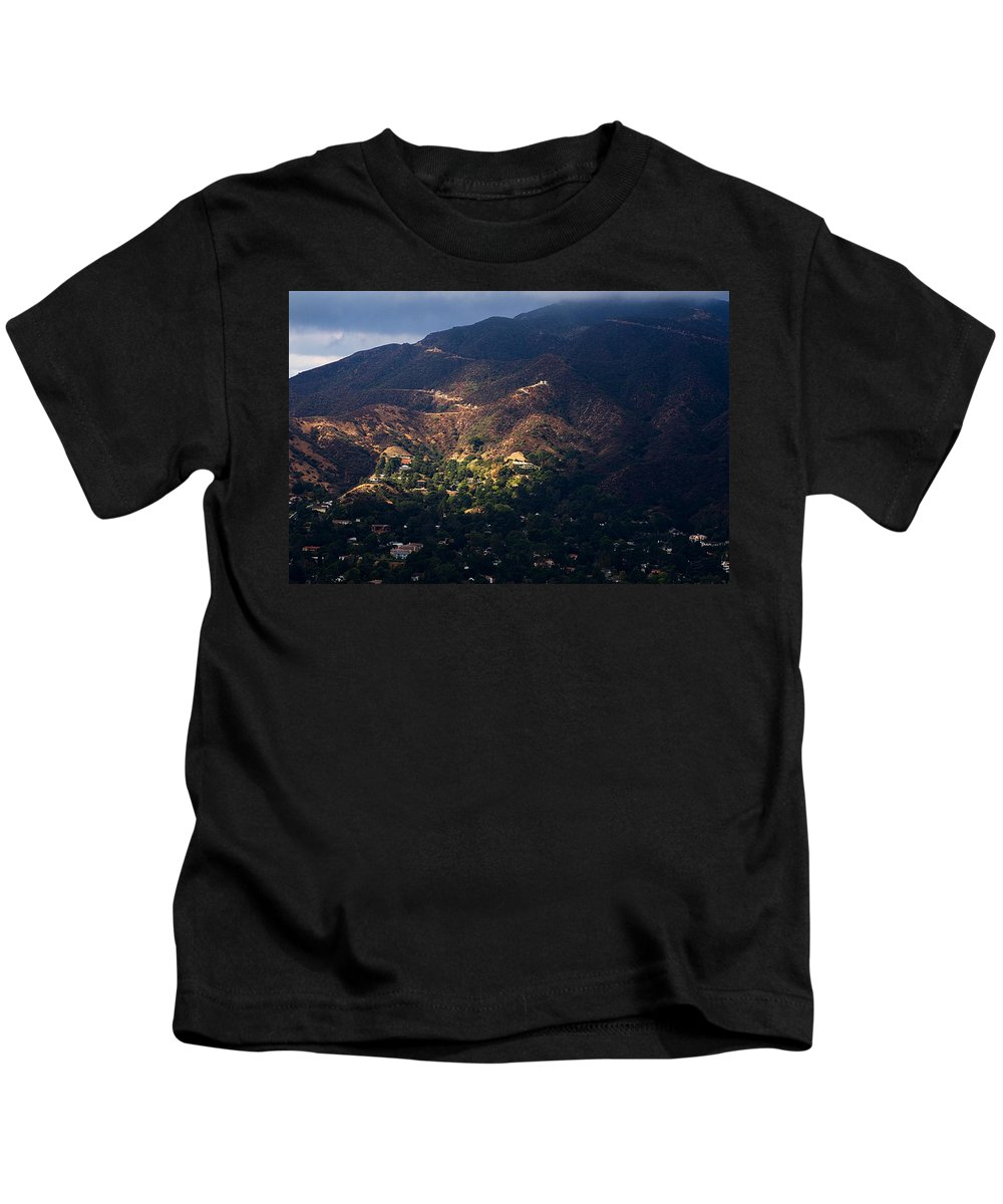 Clay Kids T-Shirt featuring the photograph A Break In The Clouds In Southern California by Clayton Bruster