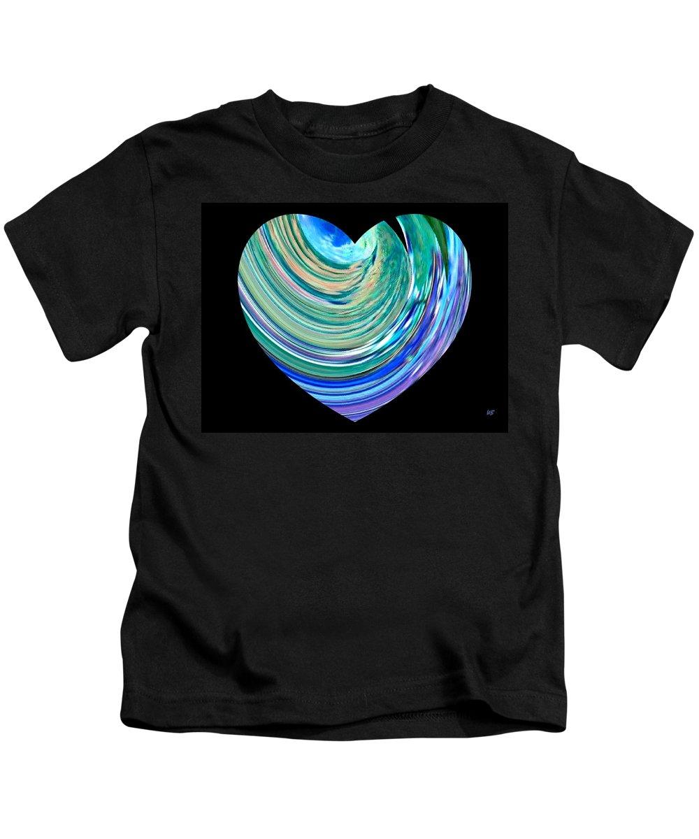 Broken Heart Kids T-Shirt featuring the digital art A Broken Heart by Will Borden