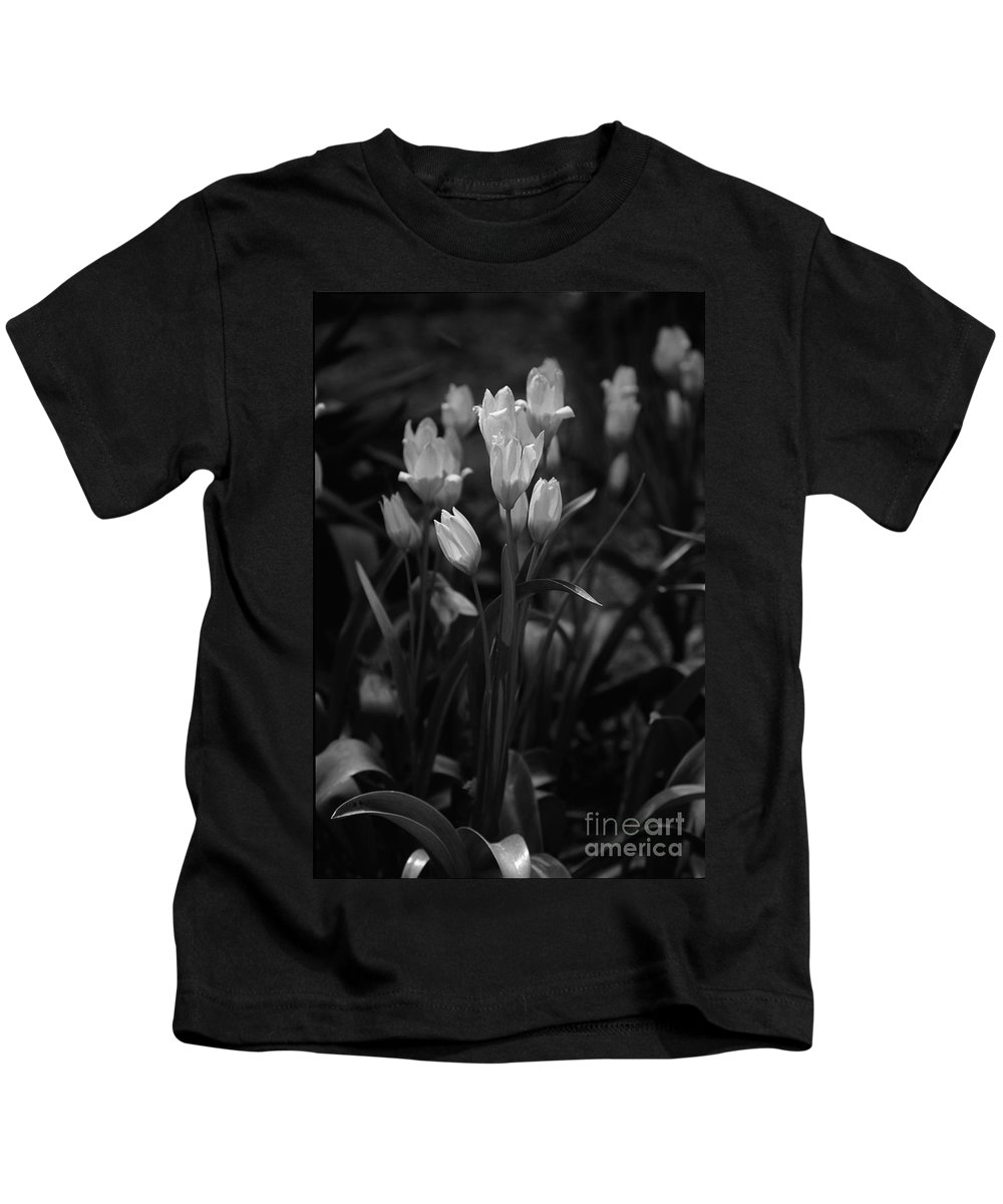 Floral Kids T-Shirt featuring the photograph A Candid Moment by Kathy McClure