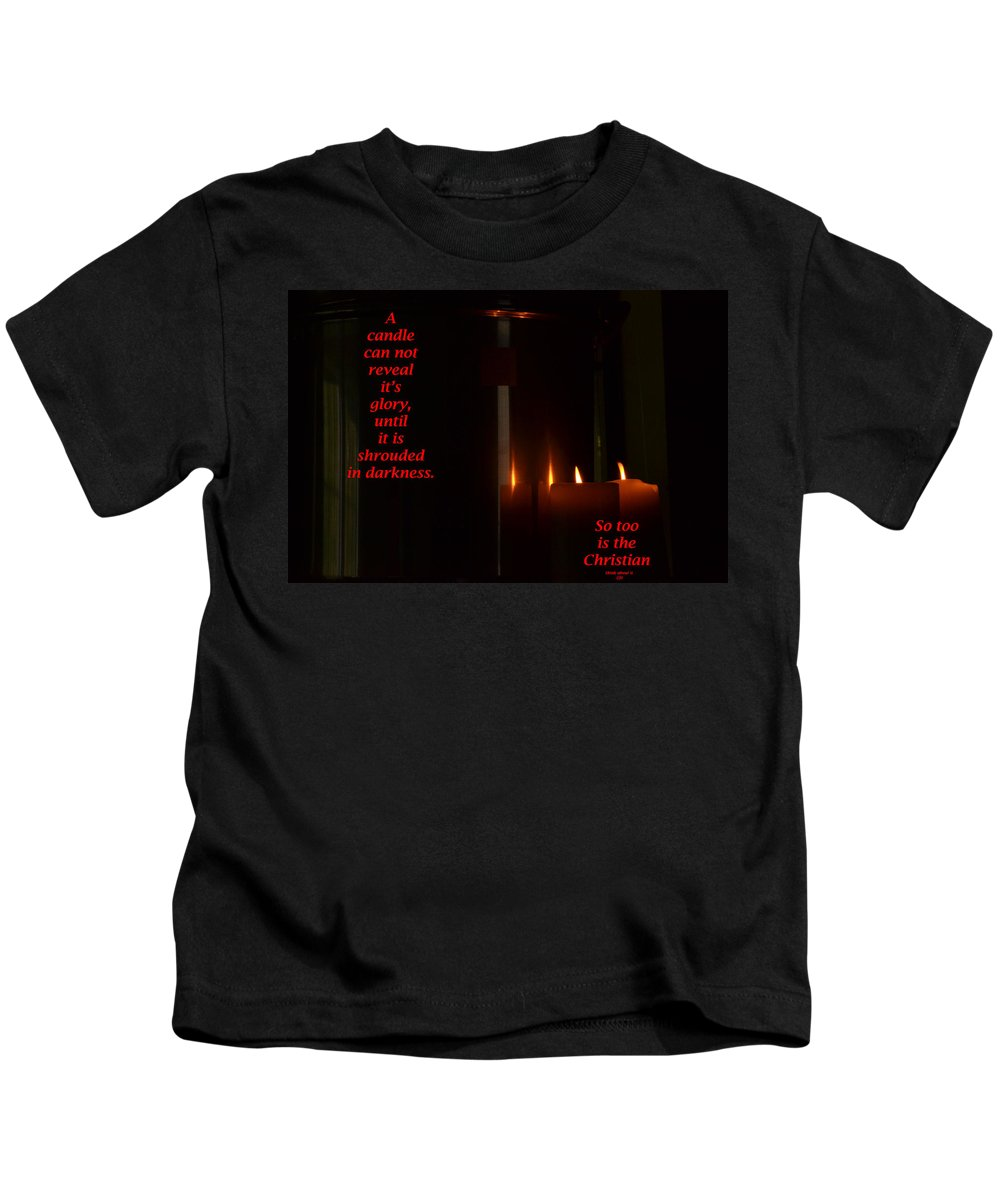 Candle Kids T-Shirt featuring the photograph A Candle by Marshall Barth