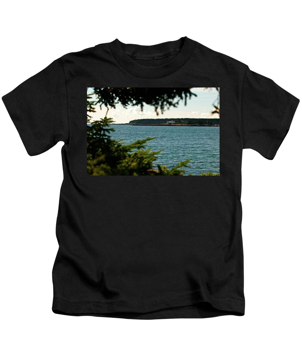 acadia National Park Kids T-Shirt featuring the photograph A Distant Light by Paul Mangold