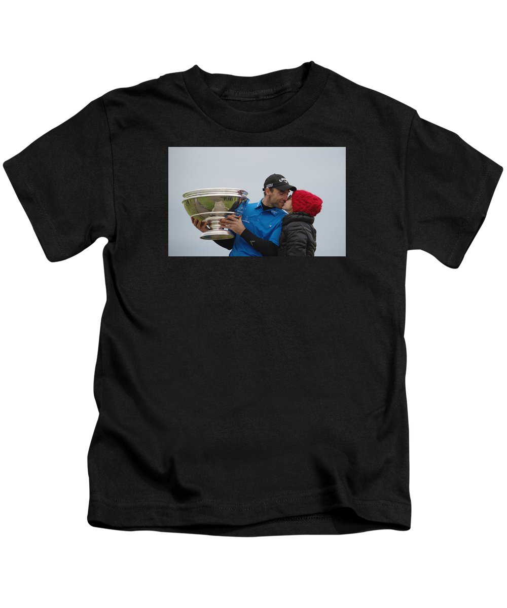 Kiss Kids T-Shirt featuring the photograph A Kiss For The Winner by Adrian Wale