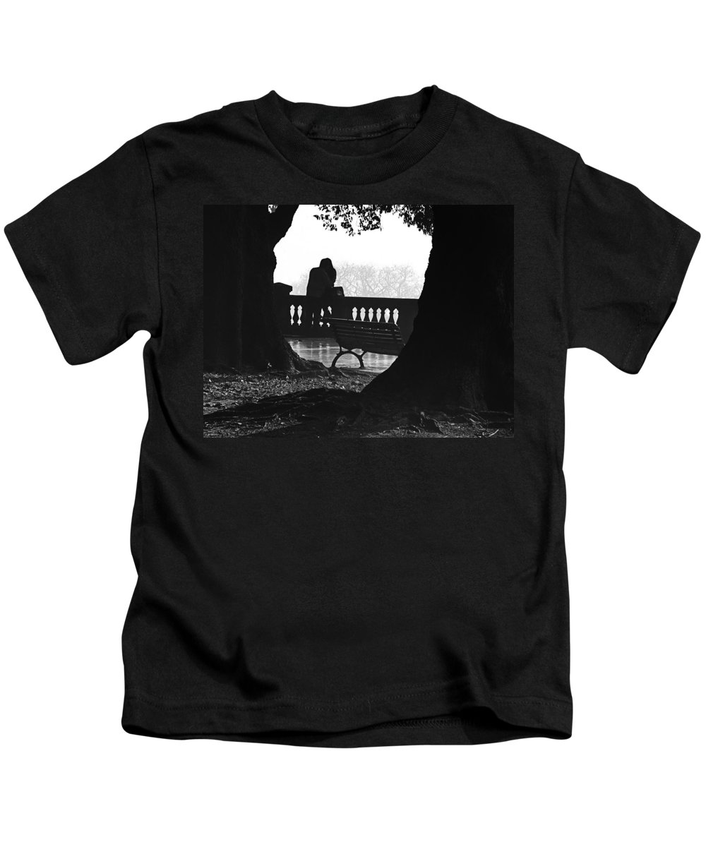 Buenos Aires Kids T-Shirt featuring the photograph A Kiss Is A Kiss by Osvaldo Hamer
