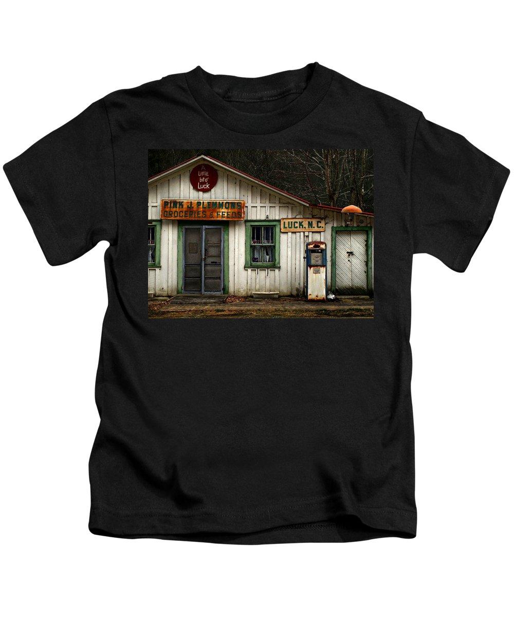 Americana Kids T-Shirt featuring the photograph A Little Bit Of Luck by J K York