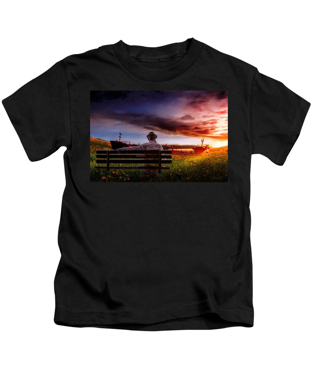 Surreal Kids T-Shirt featuring the photograph A Man And His Hat by Bob Orsillo