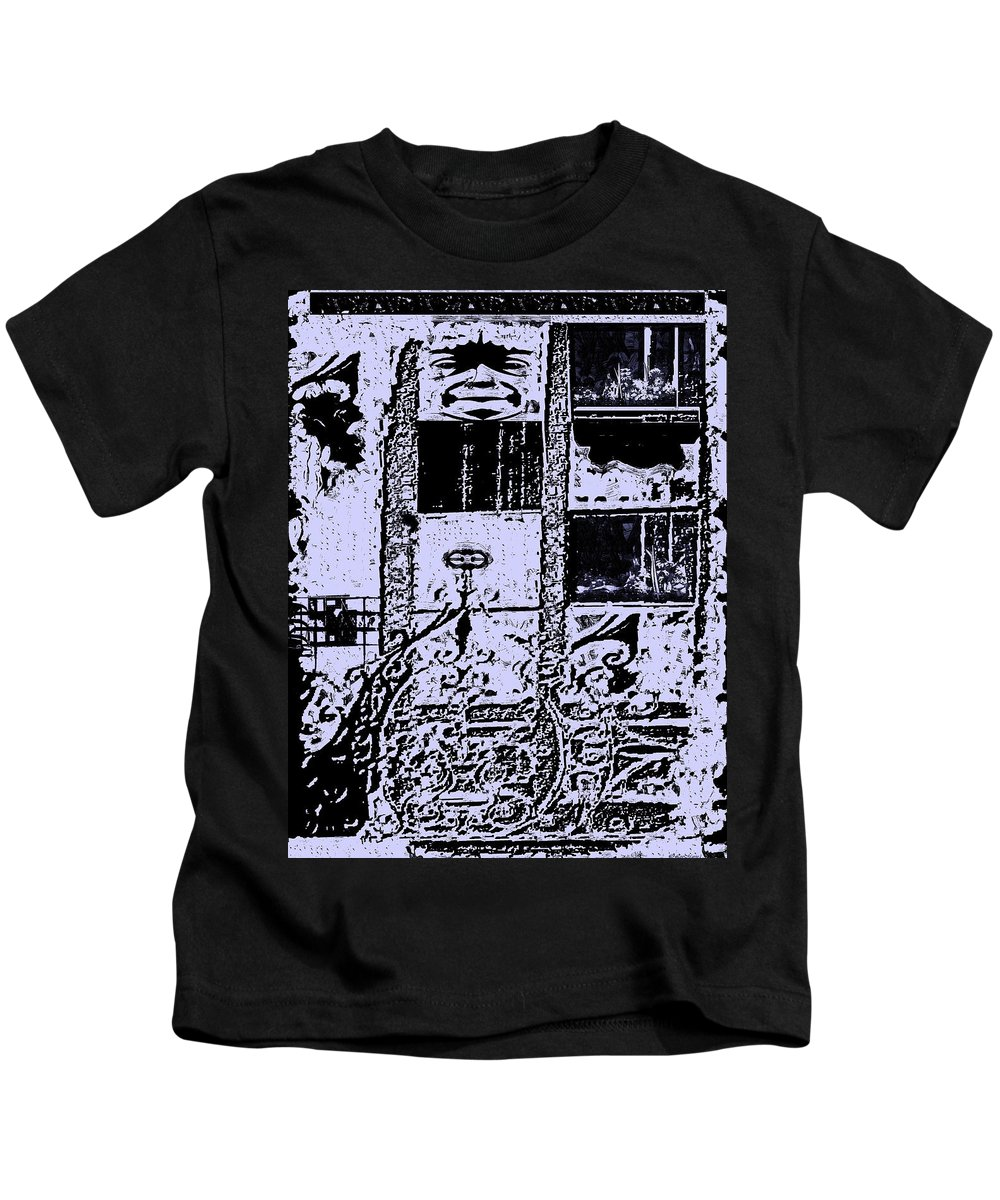 Surrealism Kids T-Shirt featuring the digital art A Marked Dewelling by Listen LeeMarie