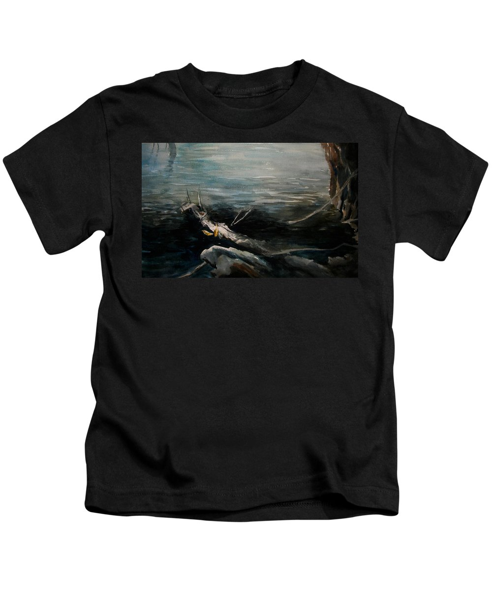 Landscape Kids T-Shirt featuring the painting A Moment In Time by Rachel Christine Nowicki