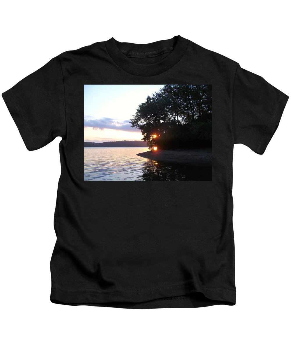 Water Kids T-Shirt featuring the photograph A Peek Of Light by Charleen Treasures
