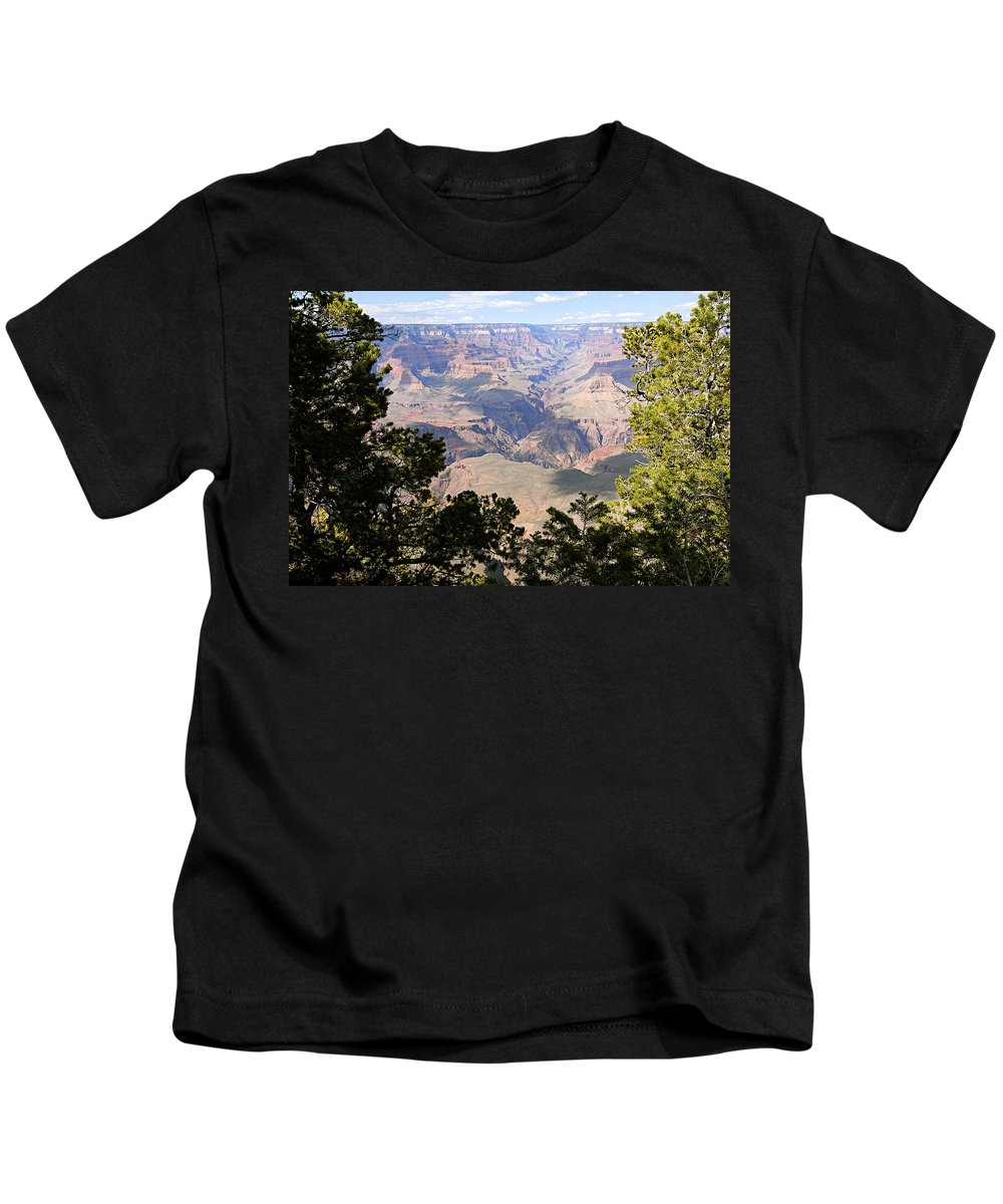 Grand Canyon National Park Kids T-Shirt featuring the photograph A River Runs Through It by Larry Ricker