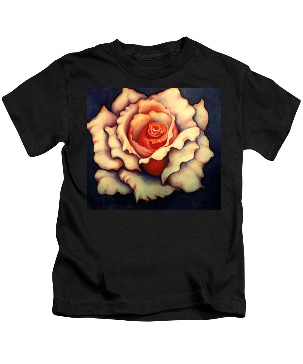 Flower Kids T-Shirt featuring the painting A Rose by Jordana Sands