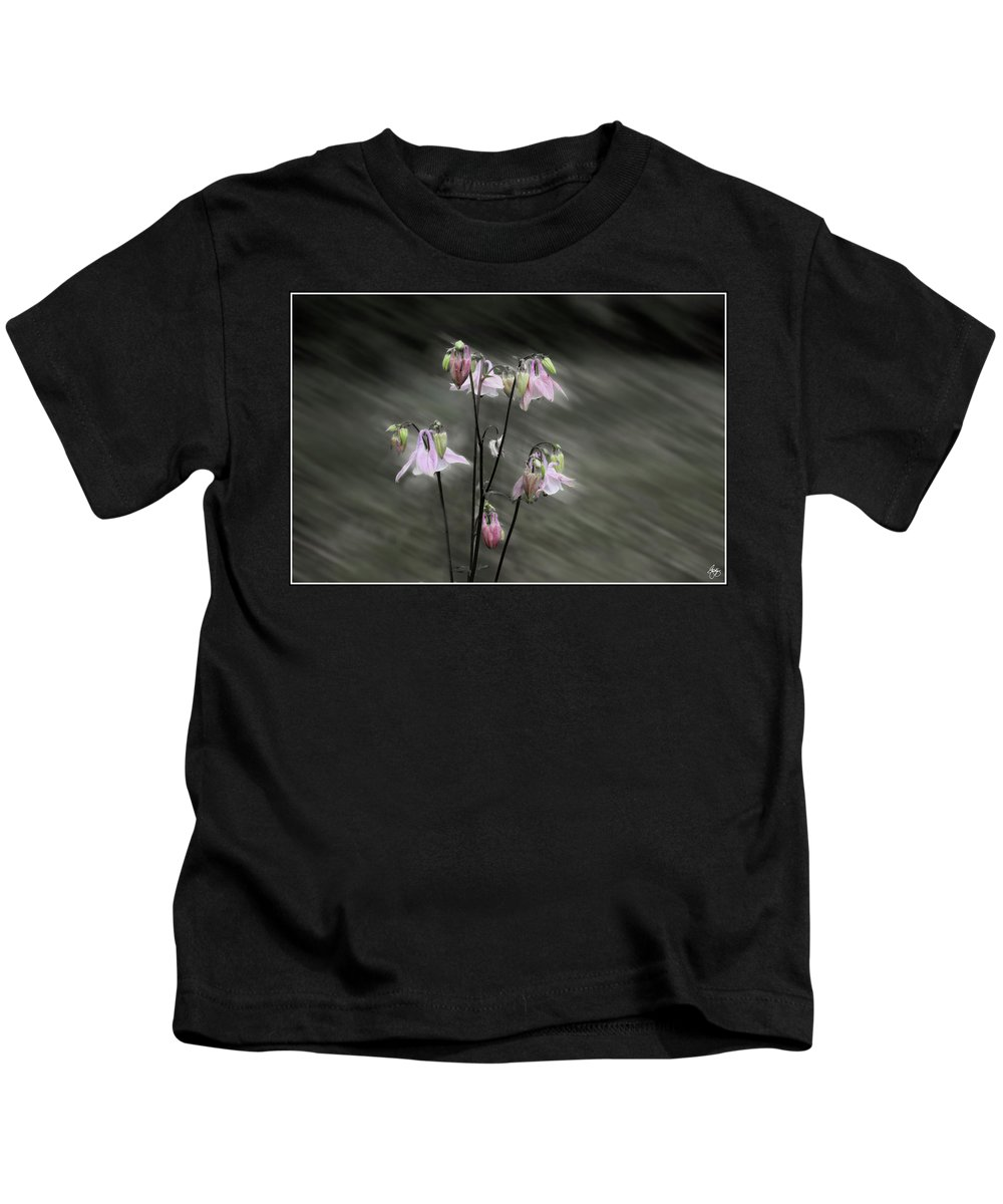 Columbine Kids T-Shirt featuring the photograph A Rush Of Columbine by Wayne King
