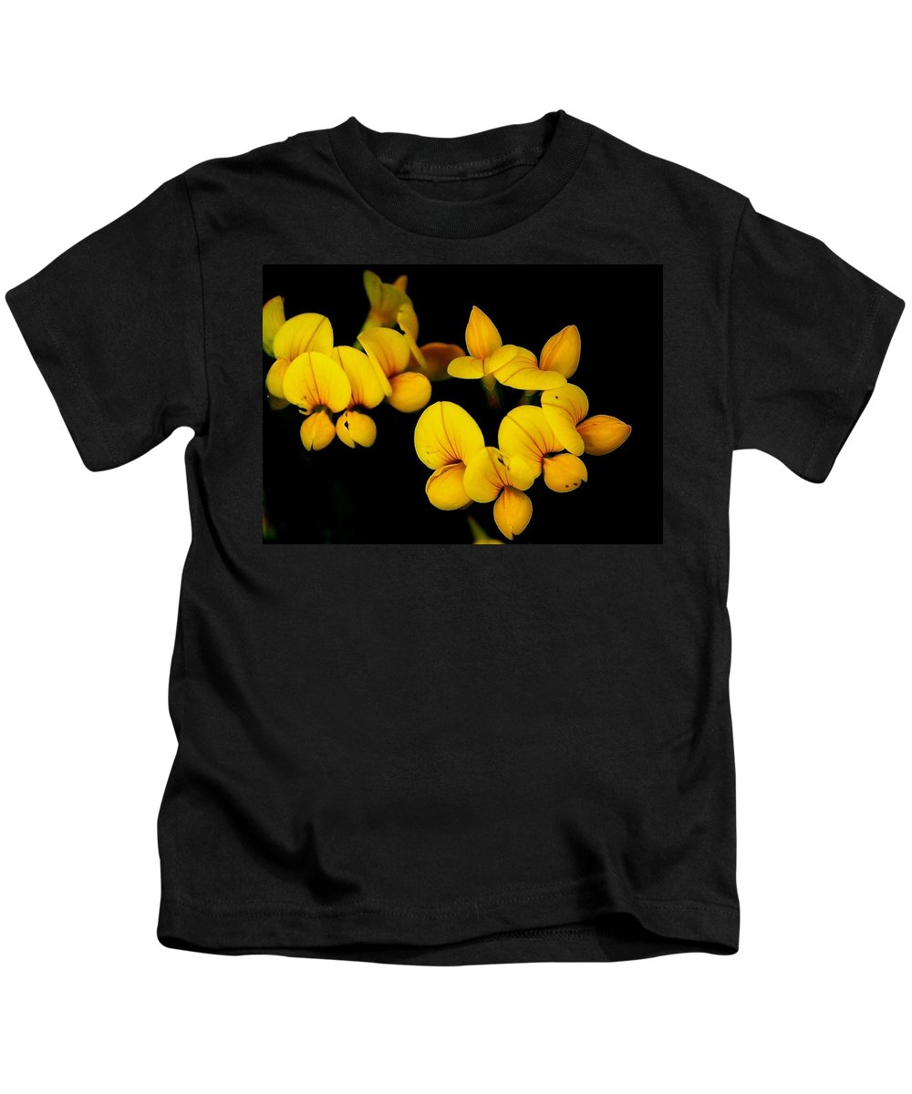Digital Photography Kids T-Shirt featuring the photograph A Study In Yellow by David Lane