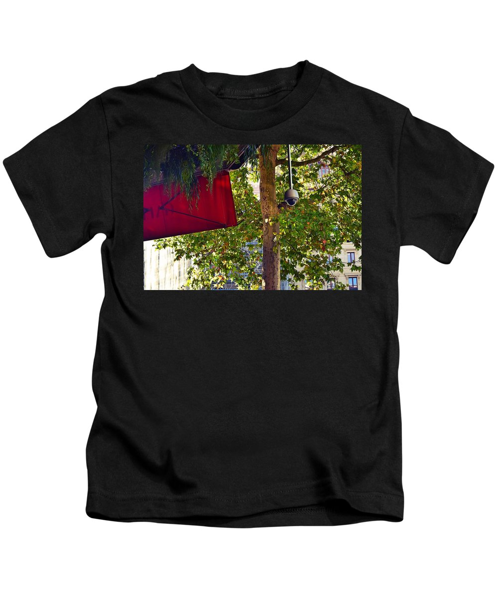Tree Kids T-Shirt featuring the photograph A Touch Of Red by Valerie Dauce