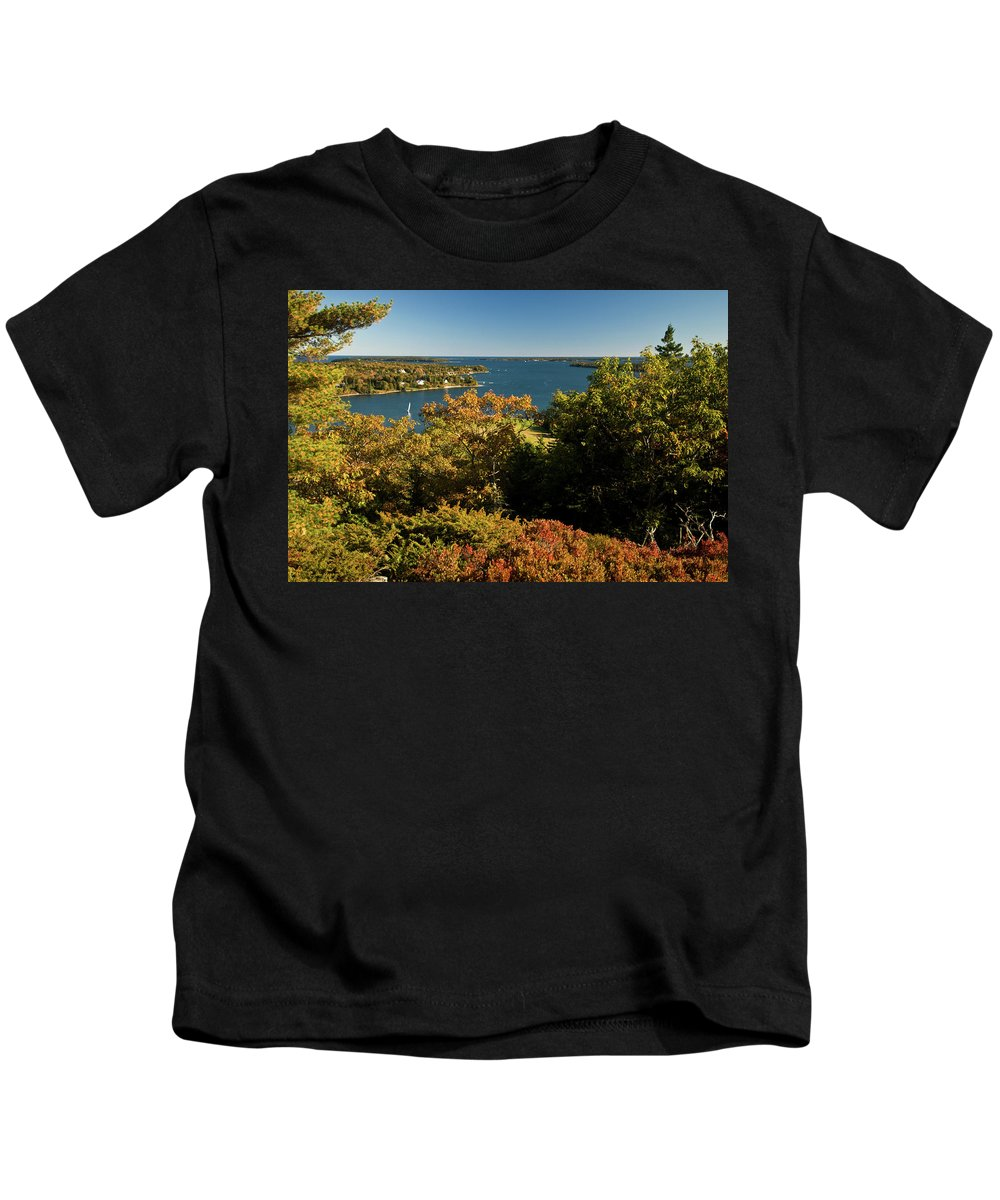acadia National Park Kids T-Shirt featuring the photograph A View From The Top by Paul Mangold