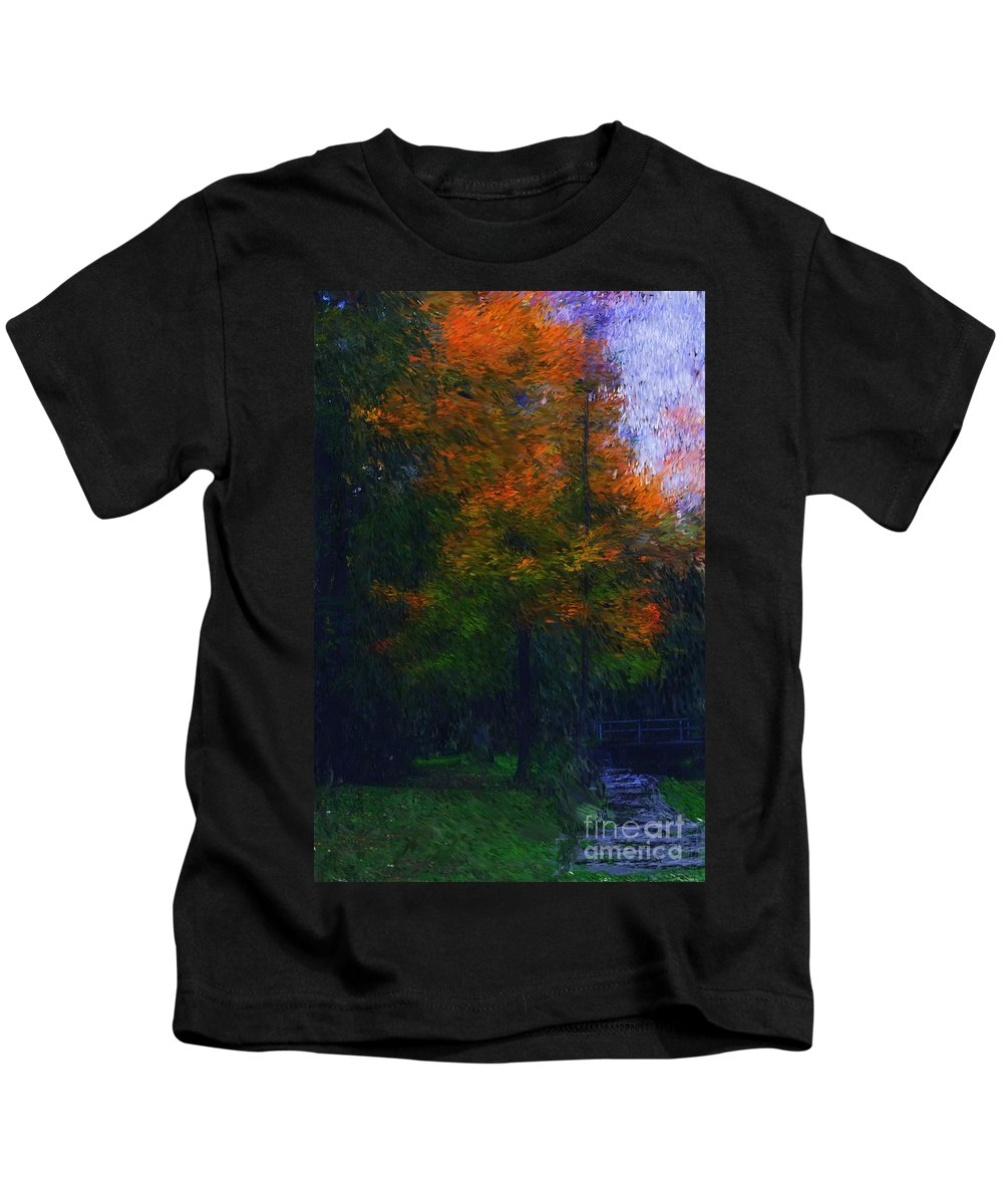 Autumn Kids T-Shirt featuring the photograph A Walk In The Park by David Lane