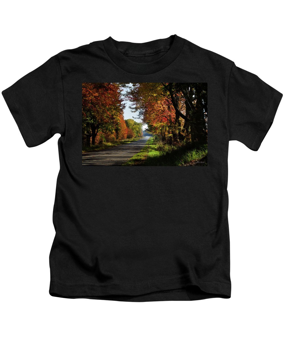 Photography Kids T-Shirt featuring the photograph A Warm Fall Day by Frederic A Reinecke