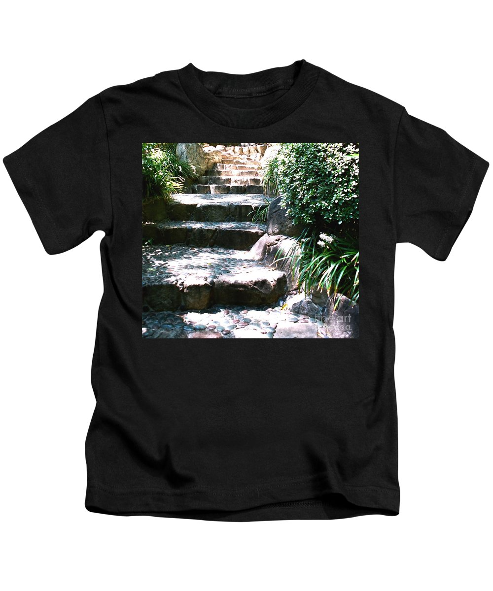 Stairs Kids T-Shirt featuring the photograph A Way Out by Dean Triolo