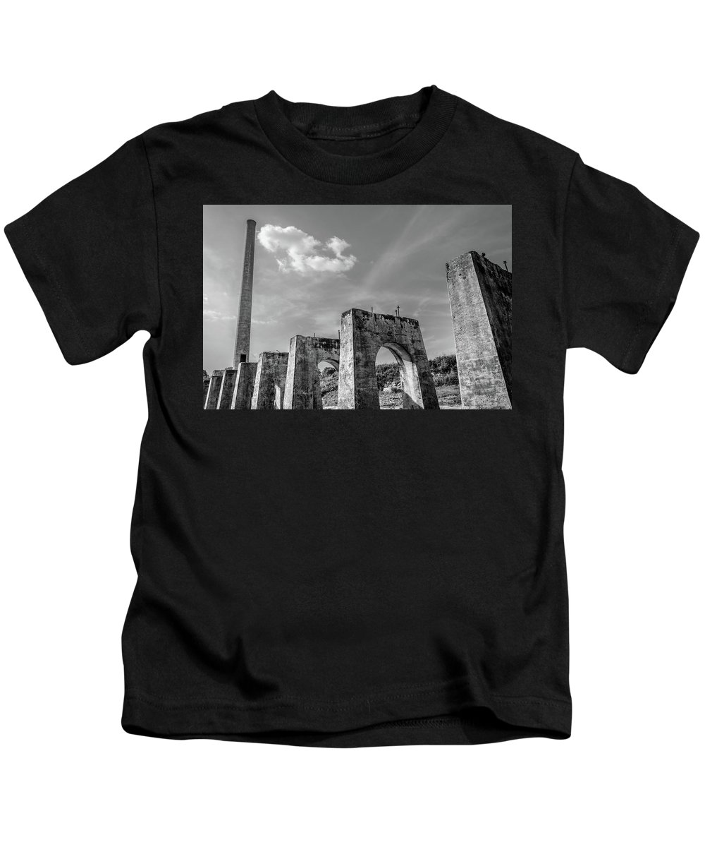 Architecture Kids T-Shirt featuring the photograph Abandonded Trestle by Jim Love