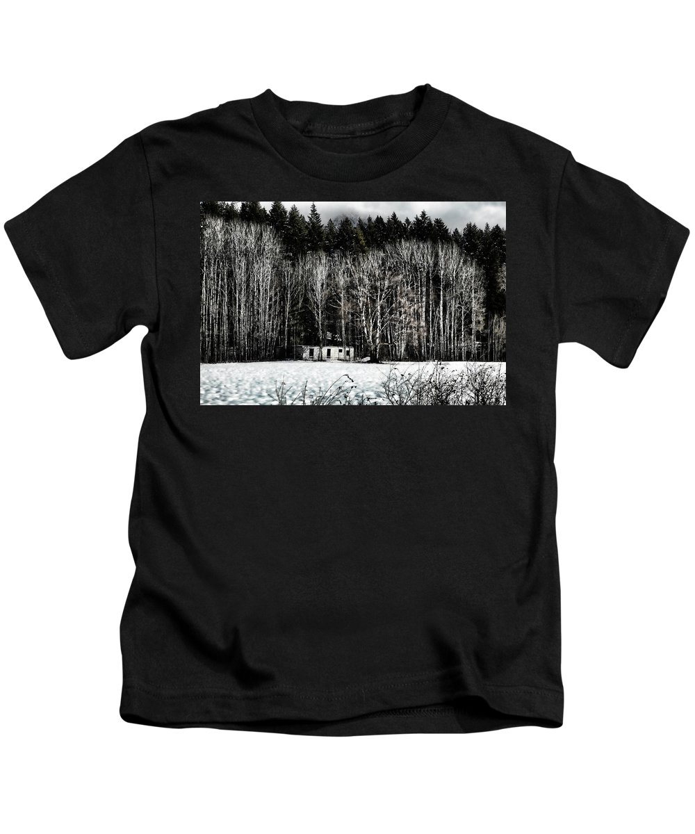 Log Kids T-Shirt featuring the photograph Abandoned Part 2 by Monte Arnold