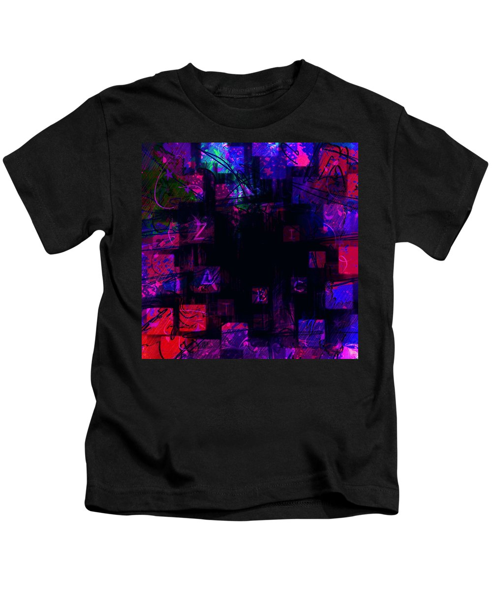 Abstract Kids T-Shirt featuring the digital art Abc's by Rachel Christine Nowicki