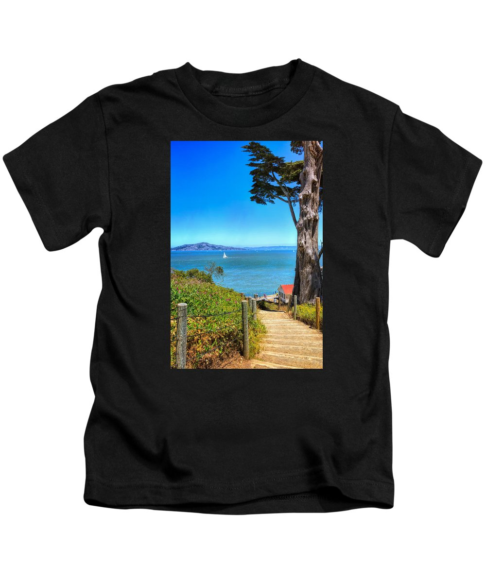 Landscape Kids T-Shirt featuring the photograph Above San Francisco Bay by John M Bailey