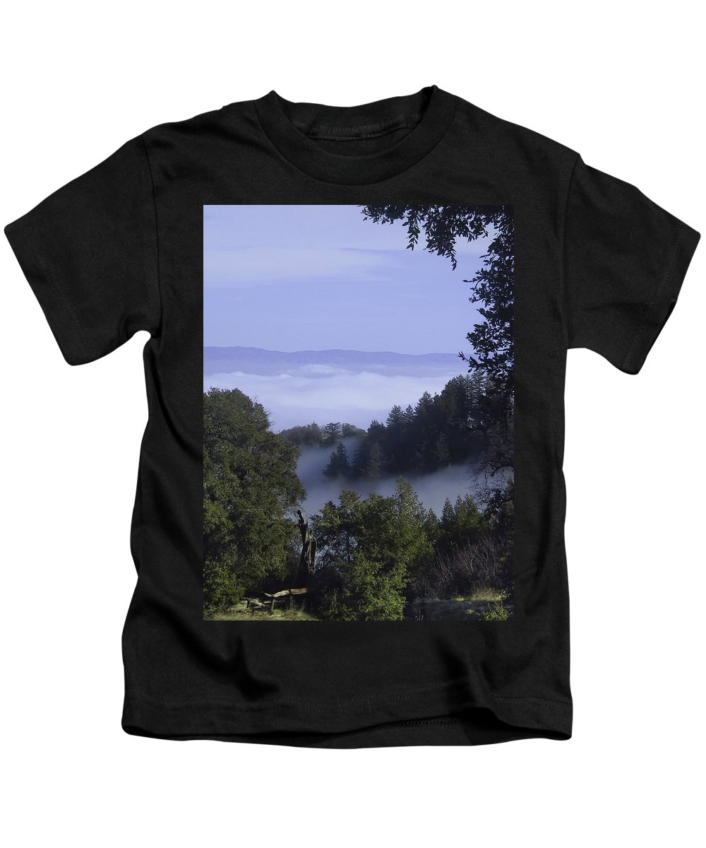 Lalndscape Kids T-Shirt featuring the photograph Above The Clouds by Karen W Meyer