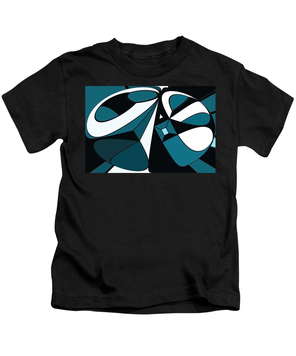 Abstract Kids T-Shirt featuring the digital art Abstrac7-30-09-a by David Lane