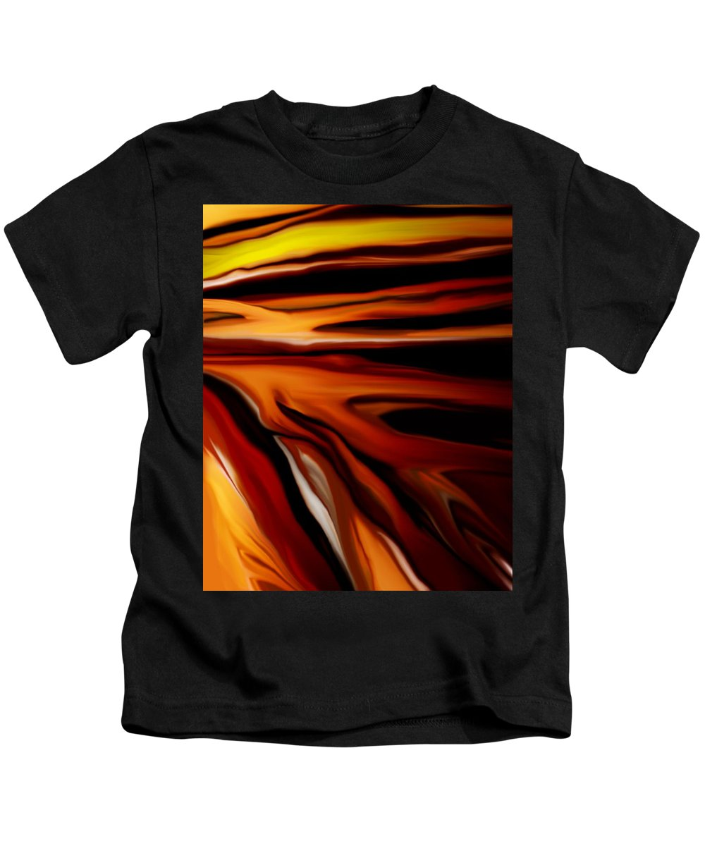 Digital Painting Kids T-Shirt featuring the digital art Abstract 02-12-10 by David Lane